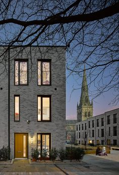 Buildings: Timekeepers Square - Ashley Home Modern Residential Architecture, Architecture Résidentielle, Building Exterior, Building Facade, Townhouse Exterior, Modern Townhouse, Mews House, Lofts, Brick Facade