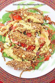 Garlic: Pecan-Crusted Chicken Salad with spinach, bacon, gorgonzola ...
