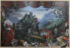 "Twentieth Century British Art by Alan Sorrell: ""Mural III for the canteen of John D. Francis Ltd, Fazakerley, Liverpool, Romanticism Artists, Canteen, Murals, Liverpool, Modern Art, British, Oil, Paper, Painting"