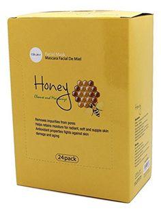 Celavi Essence Facial Mask Paper Sheet Korea Skin Care Moisturizing 24 Pack Honey >>> Click image to review more details. (Note:Amazon affiliate link)