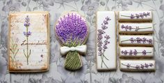 """""""...I love how lavender stems have very fine hairs that lend a slight shimmer, so I brushed a little pearl dust on my cookie stems for a subtle sheen."""" Arty McGoo"""