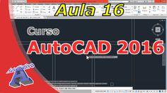 Curso de AutoCAD 2016 – Paredes – Aula 16 – Autocriativo Autocad 2016, Youtube, Engineering, Classroom, Youtubers