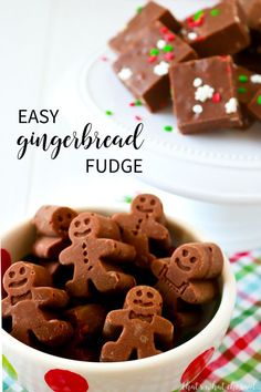 If you love gingerbread cookies you will be a big fan of this 5 Minute Gingerbread Fudge. Easy Christmas fudge recipe adapted to taste just like a gingerbread cookie! Quick Fudge Recipe, Fudge Recipes, Candy Recipes, Baking Recipes, Holiday Recipes, Cookie Recipes, Dessert Recipes, Easy Fudge, Christmas Recipes