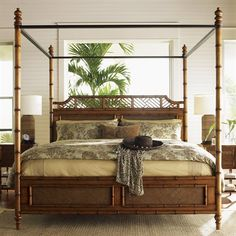 Summer is the perfect time to bring island style indoors! Lexington Home Brands 01-0531-16 Tommy Bahama Island Estate West Indies Bed - Home Furniture Showroom