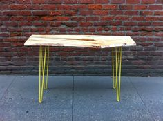 Neon Hairpin Legs: kitchen table or desk Hairpin Table, Hairpin Legs, Live Edge Table, Live Edge Wood, Wood Table, A Table, Table Legs, Console Table, Dining Table