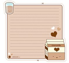 Cute Kawaii printables scrapbooking-paper-stuff-and-printables Printable Scrapbook Paper, Printable Stickers, Printable Paper, Free Printable Stationery, Memo Notepad, Cute Notes, Bullet Journal Ideas Pages, Journal Stickers, Note Paper