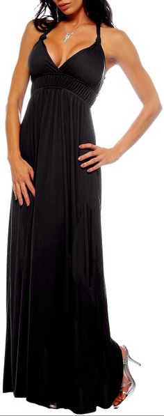 great black maxi. Can go anywhere with a cute jacket.