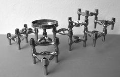 BMF Nagel Quist Kerzenständer / 10 Stück und eine Schale / Stecksystem…