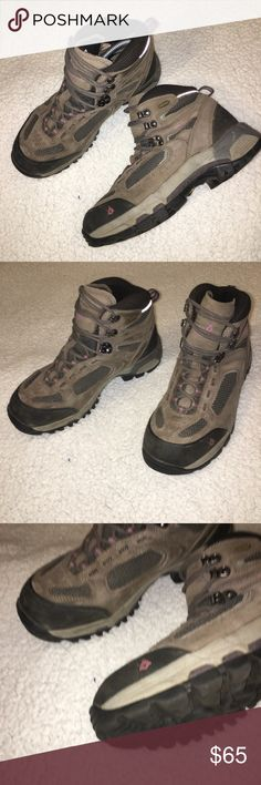 Vasque GORE Tex Hiking Boots Vasque Breeze II GTX Hiking Boots. Size 8.5 WIDE. Excellent condition EUC. Some residue on inside of right shoe from a patch that doesn't not alter quality. Gore Tex and Vibram sole and waterproof. Vasque Shoes Winter & Rain Boots