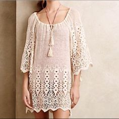 NWT anthropologie swim cover This super cute NWT swim cover is perfect for summer ! Anthropologie Swim Coverups