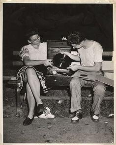 Weegee - After midnight in Washington Square Park, Folk Dance, ca. 1945.