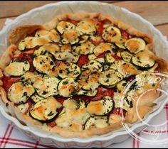 Tarte aux tomates, courgette et mozzarella