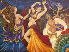 Belly Dance Illustration, shows off the colours of belly dance