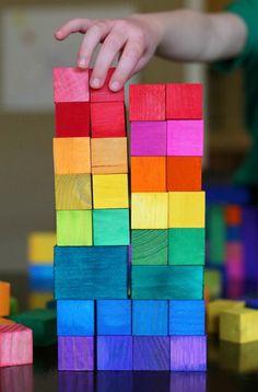 jouets en bois, cubes de jeux