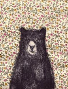 Bear & Calico Wallpaper