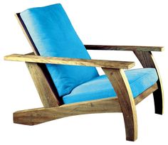 Parati Armchair by Carlos Motta Sofa Furniture, Pallet Furniture, Furniture Projects, Furniture Making, Furniture Design, Outdoor Furniture, Adirondack Chairs, Outdoor Chairs, Poltrona Design