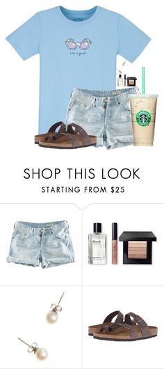 """""""~life is good~"""" by flroasburn ❤ liked on Polyvore featuring H&M, Bobbi Brown Cosmetics, J.Crew and Birkenstock"""