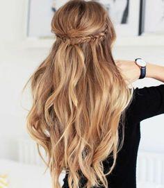 coiffure cheveux détachés, boucles, tresses, boho style