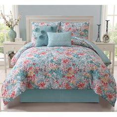 Kayla 5-piece Reversible Comforter Set | Overstock.com Shopping - Great Deals on Comforter Sets