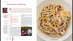 Lemon past with shrimp by Rocco Shrimp Recipes, Pasta Recipes, Dinner Recipes, Pound A Day Diet, Low Cal Dinner, Healthy Recipes, Healthy Foods, Yummy Recipes, Lemon Pasta