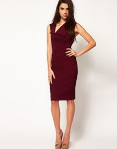 Hybrid Dress With Neck Panel And Peplum Detail