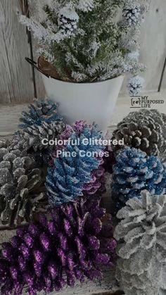 Christmas Makes, All Things Christmas, Winter Christmas, Diy Arts And Crafts, Crafts To Make, Glitter Projects, Wood Projects, Craft Projects, 1000 Lifehacks