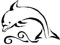 Wave idea under my dolphin tattoo