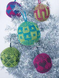 Graphic Tunisian Crochet Ornaments - Crochet Me