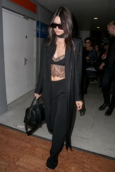 Champion Kendall Jenner Wore Lingerie at the Airport