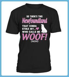 My Newfoundland Calls Me Woof Mom Funny Gifts Tshirt