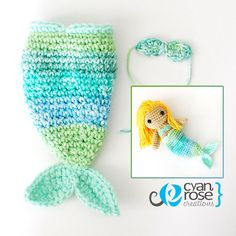Crochet Colorful Mermaid Tail FOR DOLL  Read by CyanRoseCreations, $6.50