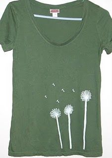 Dandelion Tshirt  #bleach #dandelion #tshirt Paint Shirts, Bleach T Shirts, How To Make Clothes, Diy Clothes, T Shirt Remake, Sewing Crafts, Sewing Projects, Girly Things, Girly Stuff