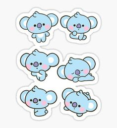 Buy Baby KOYA Set' by as a Sticker, Transparent Sticker, or Glossy Sticker Pop Stickers, Kawaii Stickers, Printable Stickers, Journal Stickers, Planner Stickers, Korean Stickers, Bts Drawings, Line Friends, Bts Chibi