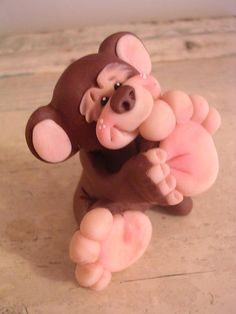 Polymer clay CLAYKEEPSAKES foot in mouth
