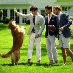 Preppy boys- not my fave type of boys but they cute and they got a dog.... all I look for in a man