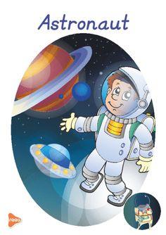 Planșele sunt ilustrate atractiv, reprezintă diferite meserii precum: medic, profesor, actor, fotbalist, grăsinar, fermier, etc. Teaching Weather, Experiment, Teaching Materials, Paper Flowers, Smurfs, Graphic Art, Fairy Tales, Kindergarten, Homeschool