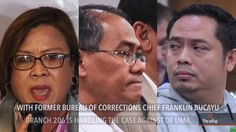 Court denies DOJ motion to consolidate drug cases vs De Lima - WATCH VIDEO HERE -> http://dutertenewstoday.com/court-denies-doj-motion-to-consolidate-drug-cases-vs-de-lima/   The Muntinlupa Regional Trial Court denies the motion to consolidate into one case the 3 drug charges of detained Senator Leila de Lima. Full story:  News video credit to Rappler's YouTube channel