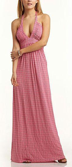 Cute, pink maxi dress