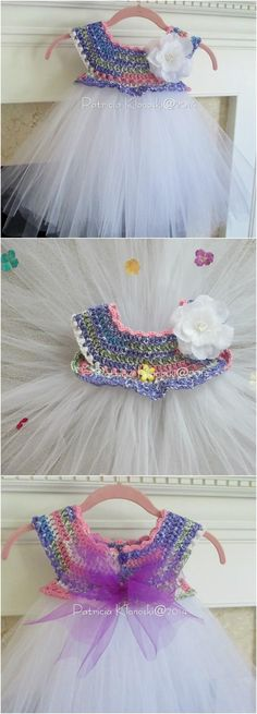 10 Free Crochet Patterns for Girl Tutu Dress Top | 101 Crochet