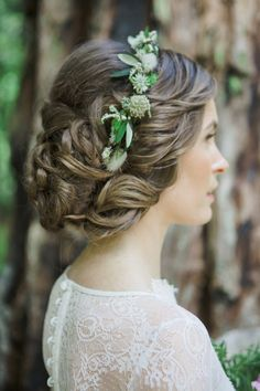 bridal hair for a forest fete