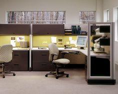 Action Office Series 2 System in Team Configuration. Estar en la oficina nunca había sido tan placentero #Mober