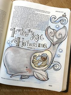 Jonah and the Whale coloring page Bible journaling tip-in Journaling Malvorlagen Jonah und der Wal / In zwei. Bible Study Journal, Scripture Study, Bible Art, Journal Prompts, Bible Drawing, Bible Doodling, Bible Prayers, Bible Scriptures, Whale Coloring Pages