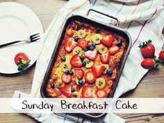 Sunday Breakfast Cake