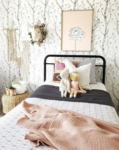 Teen Girl Bedrooms - Effortless and amazing teenage girl room ideas and makeover. Desperate for additional eye pleasing teen room styling information why not check out the image to read the pin suggestion 9256880137 now. Wood Wallpaper, Kids Wallpaper, Little Girl Wallpaper, Bedroom Wallpaper Stripes, Wallpaper For Girls Bedroom, Bird Wallpaper Bedroom, Wallpaper Ideas, Teen Girl Bedrooms, Little Girl Rooms
