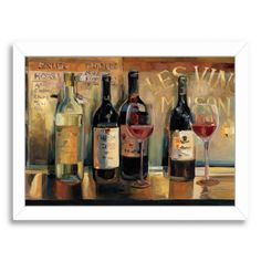 East Urban Home 'Les Vins Maison Crop' by Wild Apple Framed Painting Print