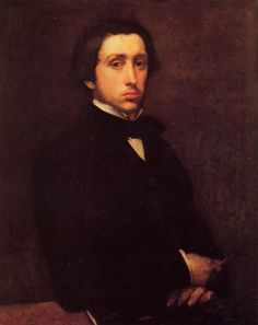 """Edgar Degas, Self-Portrait, 1855, Musee d Orsay, France """"'Art' is the same word as 'artifice,' that is to say, something deceitful. It must succeed in giving the impression of nature by false means."""" (Edgar Degas)"""