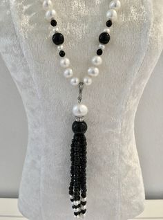 Onxy and Pearl Removable Necklace (3) at $180 Check out - Belle4ever.com
