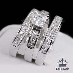 35 Best 3 Piece Bridal Engagement Ring Set Images Wedding