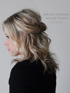 faking, or enhancing, natural texture hair tutorial