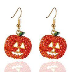 Rhinestone Detail Pumpkin Design Earring Set #ad #halloween2021 #halloweenearrings Halloween Items, Halloween Fashion, Halloween Pumpkins, Halloween 2017, Moon Earrings, Rhinestone Earrings, Women's Earrings, Earrings Online, Halloween Schmuck